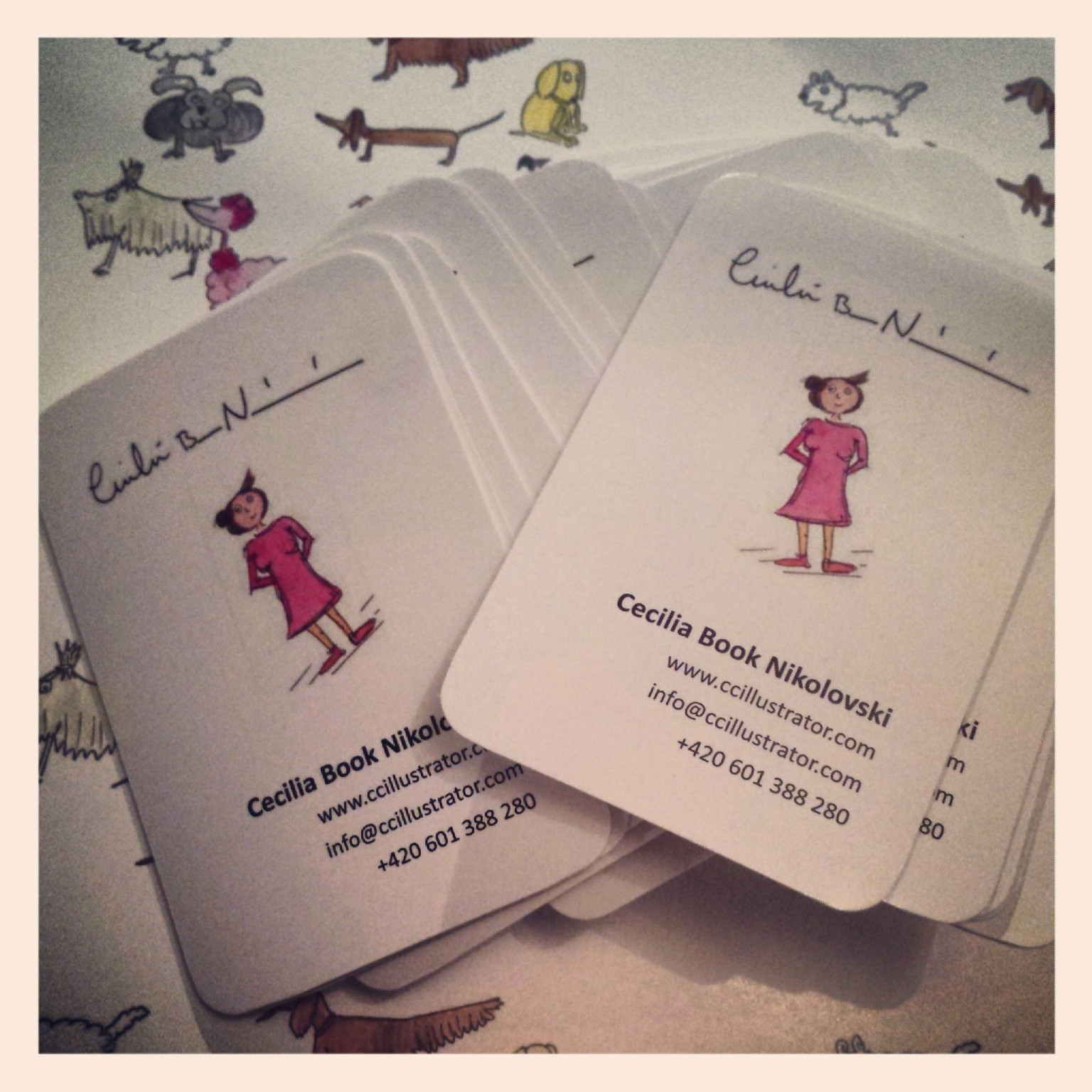Cecilia Book Nikolovski » Fun business cards
